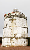 Lighthouse of Aguada Fort Stock Image