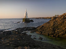 Lighthouse in Ahtopol Stock Photo