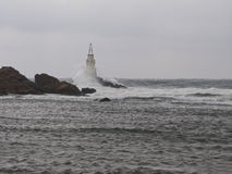 Lighthouse in Ahtopol Royalty Free Stock Photography