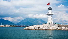 Lighthouse in Alanya Royalty Free Stock Image