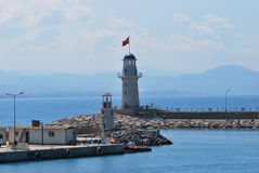 Lighthouse in  Alanya Royalty Free Stock Images