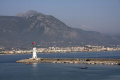 Lighthouse, Alanya Harbour Stock Photography