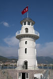 Lighthouse, Alanya Harbour Royalty Free Stock Photos