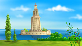 Lighthouse of Alexandria royalty free illustration