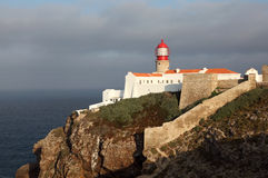 Lighthouse in Algarve, Portugal Royalty Free Stock Photos