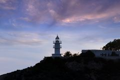 Lighthouse in Alicante Stock Photo