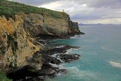 Lighthouse along the New Zealand Coastline royalty free stock photography