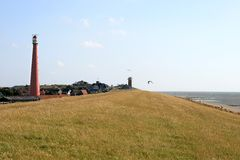 Lighthouse Along The Dutch North Sea Coast Stock Image