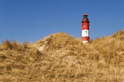 Lighthouse Amrum. View of the lighthouse Amrum, North Frisia, Germany Royalty Free Stock Photos