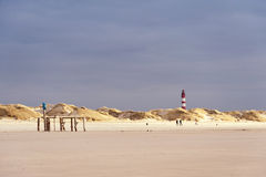 Lighthouse on Amrum Stock Photography