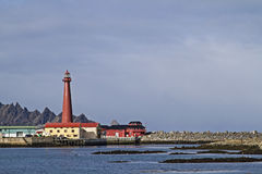 Lighthouse in  Andenes Royalty Free Stock Images