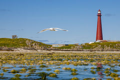 Lighthouse of Andenes Stock Photo