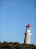 Lighthouse at an angle. Lighthouse on a hill at an angle Royalty Free Stock Photos