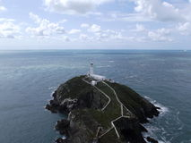 Lighthouse. A lighthouse in Anglesey, South Stack Stock Photo
