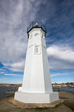 Lighthouse at Anstruther with dramatic clouds Stock Photography
