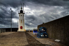 Lighthouse in Anstruther Scotland Stock Image