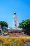 Lighthouse in Archeological park in Paphos Stock Photography
