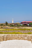 Lighthouse in Archeological park in Paphos, Cyprus Stock Photography