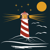 lighthouse art blue Stock Images