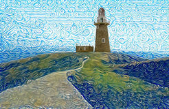 Lighthouse art in Sabtang, Batanes, Philippines Royalty Free Stock Image