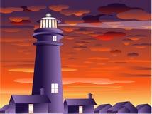 Lighthouse art work stock illustration