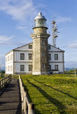 Lighthouse in Asturias Spain Bay of Biscay Stock Photos
