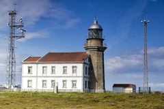 Lighthouse in Asturias Spain Bay of Biscay Stock Image
