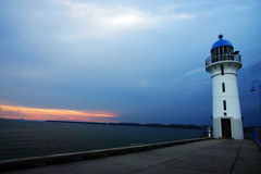 Free Lighthouse At Evening Sunset Royalty Free Stock Photography - 6967237