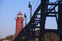 Lighthouse At Grand Haven, Michigan Royalty Free Stock Image