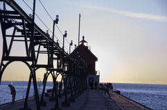 Lighthouse At Grand Haven, Michigan Royalty Free Stock Photo