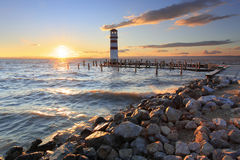 Lighthouse At Lake Neusiedl Stock Images