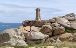 Lighthouse At Perros-Guirec Stock Photography