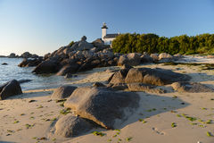 Lighthouse on the Atlantic coast of Brittany Royalty Free Stock Images