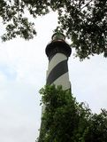 Lighthouse on Atlantic coast in St. Augustine royalty free stock images
