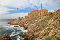 Lighthouse on the atlantic ocean Stock Images