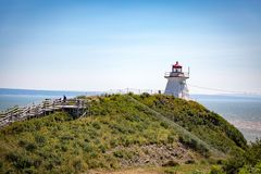 Lighthouse. A Lighthouse at Atlantic ocean stock photos