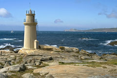 Lighthouse at the Atlantic Ocean, Muxia, Spain Stock Images