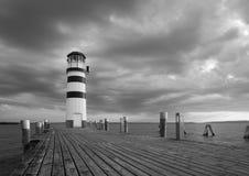 Lighthouse, Austria BW Stock Photo
