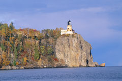 Lighthouse In Autumn, Split Rock, Minnesota Royalty Free Stock Photos