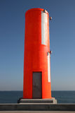 The Lighthouse. Lighthouse from Aveiro pear in Portugal Royalty Free Stock Photography