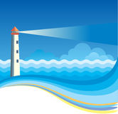 Lighthouse background Royalty Free Stock Photos
