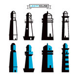 Lighthouse badges Stock Images