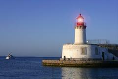 Lighthouse in balearic Islands Ibiza city Stock Photo