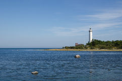 Lighthouse in the Baltic Sea. The lighthouse Lange Erik at the northern point of the swedish island Oland in the Baltic Sea Stock Photography