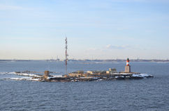Lighthouse in the Baltic Sea. Stock Photo
