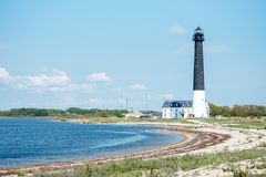 Lighthouse IN Syrve, Saaremaa island stock images