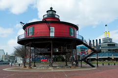Lighthouse in Baltimore stock images