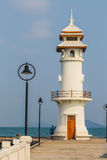Lighthouse on a Bang Bao pier on Koh Chang Island Stock Photos