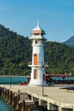 Lighthouse on a Bang Bao pier on Koh Chang Island. Koh Chang Thailand. March 30, 2015. Lighthouse on a Bang Bao pier on Koh Chang Island in Thailand stock photography