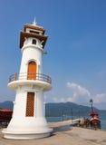 Lighthouse on a Bang Bao pier on Koh Chang Island in Thailand. KOH CHANG, THAILAND - MART 26, 2015: Lighthouse on a Bang Bao pier on Koh Chang Island in Thailand royalty free stock photography